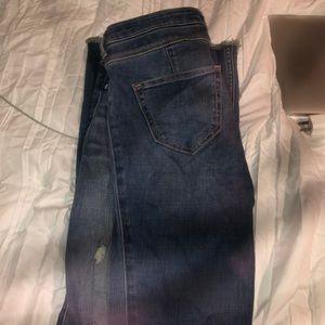 High Waisted Hollister Med Wash Jeans